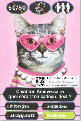 Carte anniversaire Pets Rock Qui veut gagner des millions http://lacarteriedeflavie.com/Cartes-Pets-Rock-Anniversaire-fete
