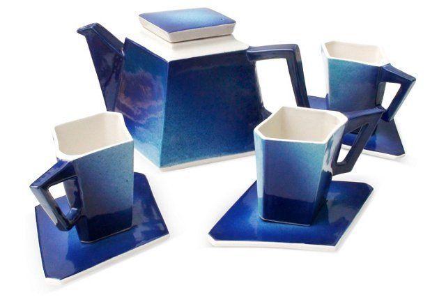 John Groth Tea Set, Svc for 3