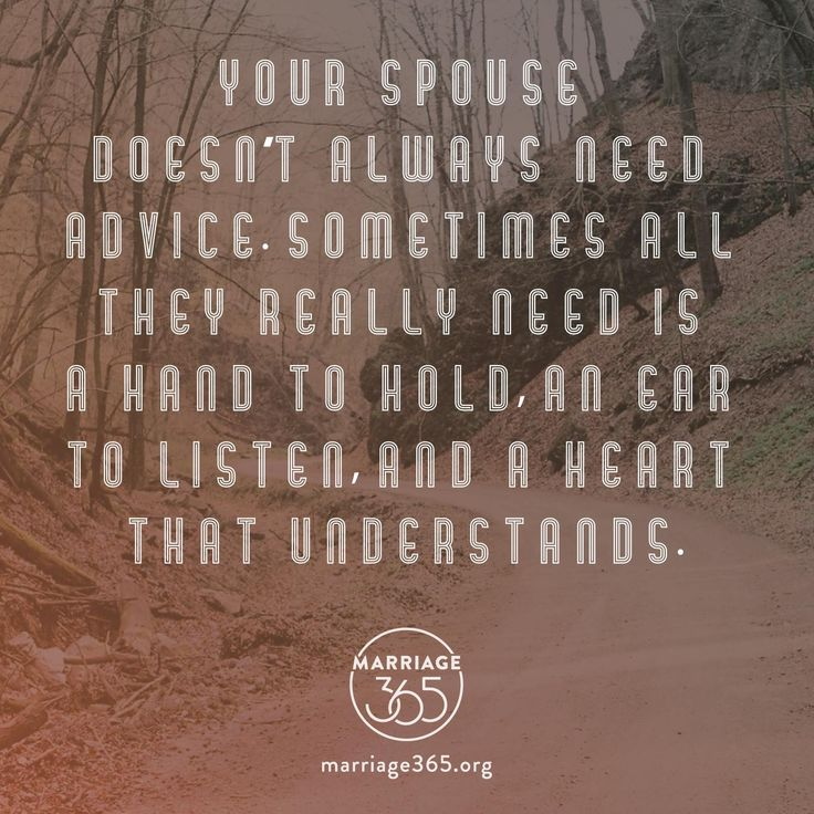 Make sure you're listening to your spouse and not fixing. #marriage365