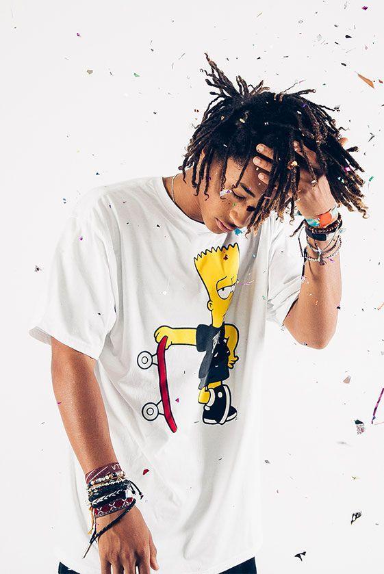 Jaden Smith Models Neff's New Simpsons Streetwear