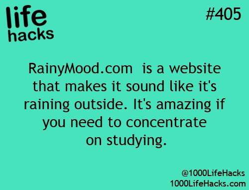"""RainyMood.com is a website that make it sound like it's raining outside.""  Living in Seattle I shouldn't need this but often it doesn't really rain hard enough to hear through the roof."