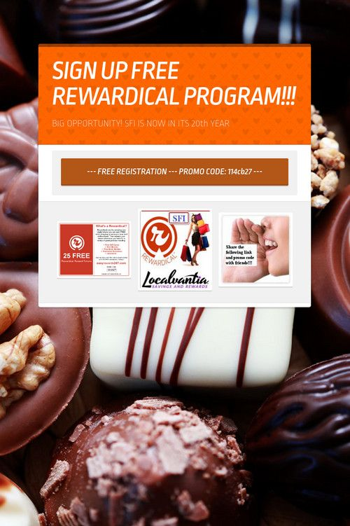 SIGN UP FREE REWARDICAL PROGRAM!!!