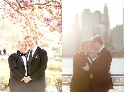 mariage homosexuel style rose elegant