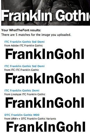 Website and app that figures out what font something is when you upload a picture. Try it here.