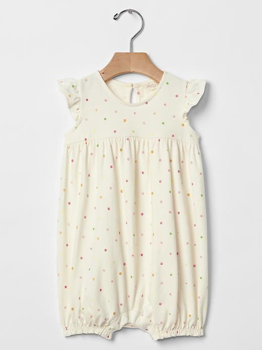 Coming home outfit - Organic polka dot shortie one-piece | Gap