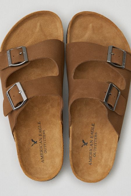 AEO Suede Double Buckle Sandal sale 2015 new clearance shop offer discount store outlet finishline sast for sale SDs8oLqhHa