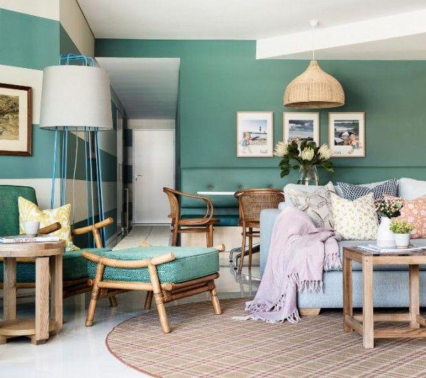 Interiores aguamarina atrevete a ponerle color a tu pared for Decoracion interiores online