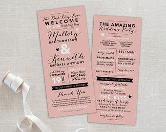 1000+ ideas about Fun Wedding Programs on Pinterest | Wedding fun ...