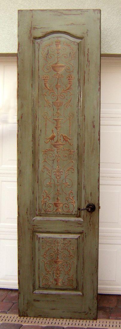 faux painted door...