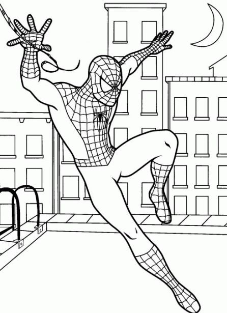 Online Spiderman Coloring Page Free Printable Superheroes Coloring - copy avengers coloring pages online
