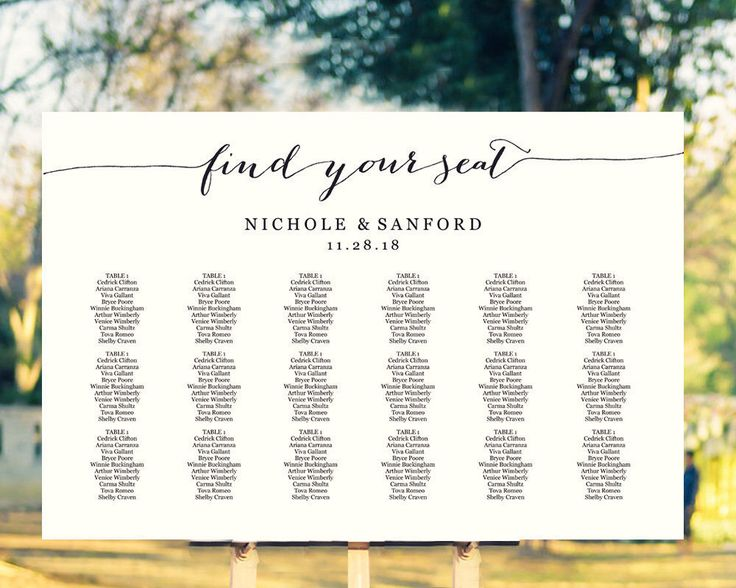 89 Best Seating Chart Templates Images On Pinterest