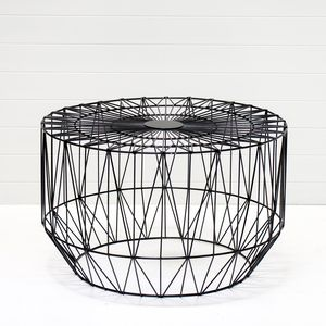 BLACK WIRE COFFEE TABLE QTY: 4
