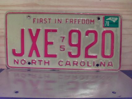 Item offered is a 1978 NC license plate in excellent or better condition. Plate can be used on any 1978 vehicle for Year of manufacture purposes in North Carolina. Price includes standard shipping in the U.S. Easy payment with Paypal for same day shipping for purchases completed before 12 Noon Eastern Time. Be sure to check my other items in my webstore and more items in the marketplace powered by eCrater! This license plate is sold for collectible and display purposes only!