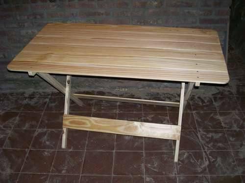 17 beste idee n over mesas plegables de madera op - Hacer mesa abatible ...