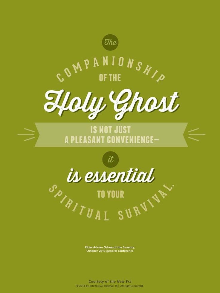 LDS Quote. Elder Adrián Ochoa reminds us of the importance of having the Holy Ghost with us.
