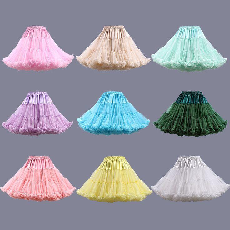 Adult Tutu Skirt Fluffy Ballet Party Pettiskirt Women Dancewear Skirt Dress