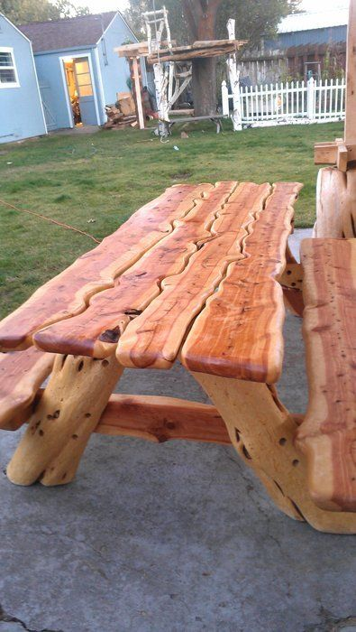Sculpted Juniper Picnic Table