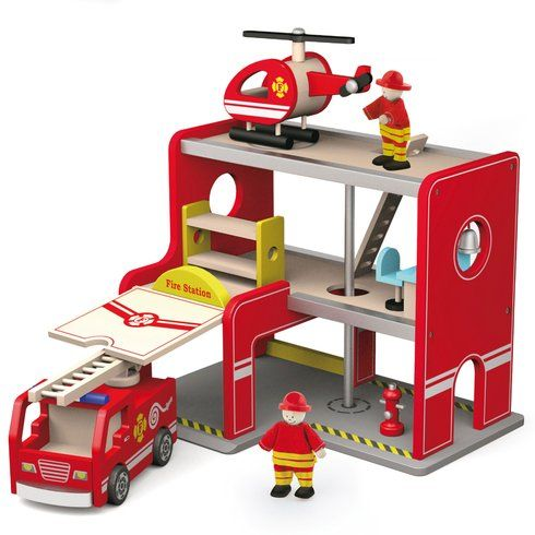 Superb Wooden Fire Station Now At Smyths Toys UK! Buy Online Or Collect At Your Local Smyths Store! We Stock A Great Range Of Wooden Toys & Puzzles At Great Prices.
