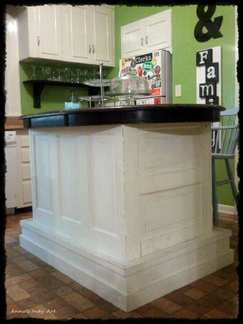 Kitchen Island Made From Old Doors My Own Projects