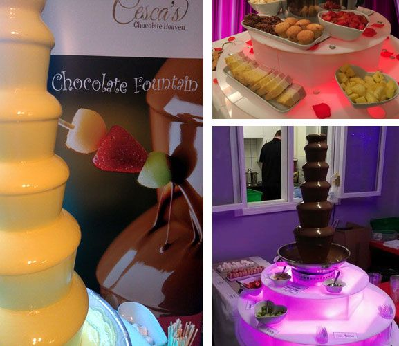 Yum Yum... Be in Chocolate Heaven with special offers off Chocolate Fountain Hire only at The Brook Mollington Banastre Wedding Fayre on Sunday 19th March, 12 - 4pm