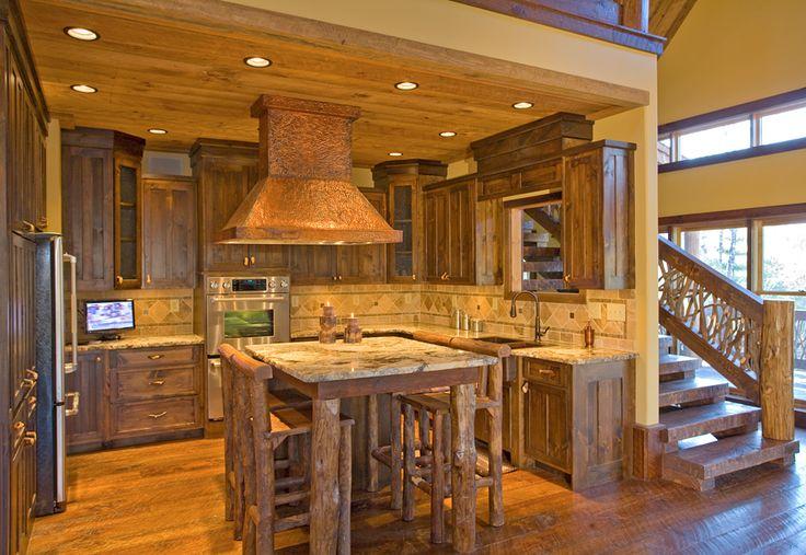 Rustic Gourmet Kitchen Cabin Decor Pinterest