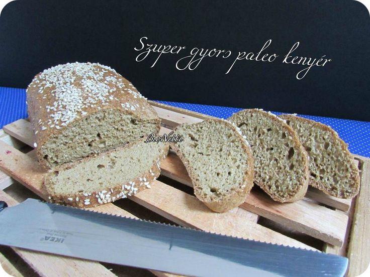 Szezámos gyors paleo kenyér