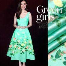 120 * 120 см 19 мм 93% шелк и 7% спандекс 19 мм зеленый дух атласной ткани для платья рубашки одежды 3 цвета(China (Mainland))