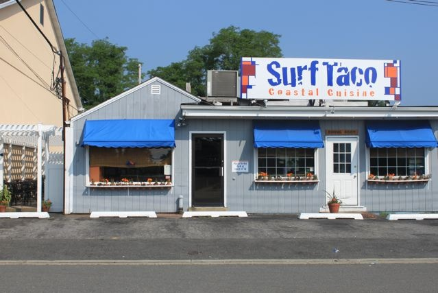 Surf Taco (Manasquan, NJ) - Garlic Shrimp Burrito features Garlic Shrimp packed with shredded cabbage, rice, Pico de Gallo, a squeeze of lime & white cilantro sauce. yum!