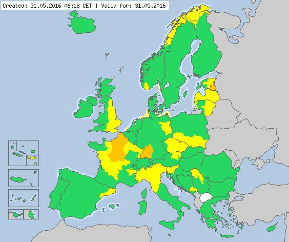 Meteoalarm - severe weather warnings for Europe - Mainpage