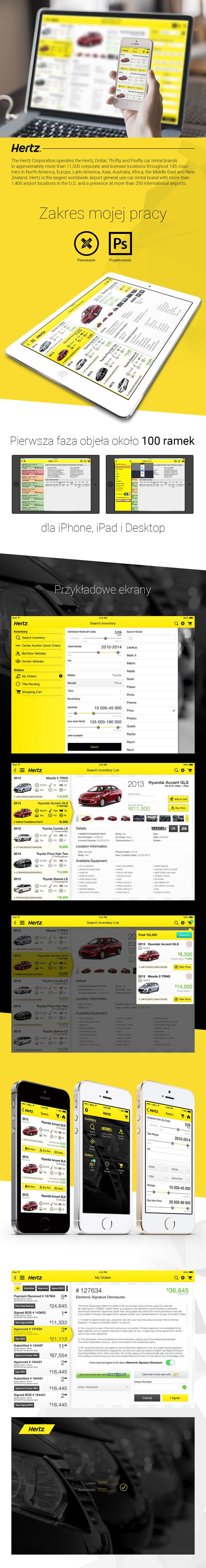 Hertz Mobile | UI/UX | User Interface | Photoshop