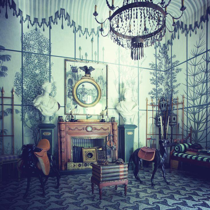 Inside the residence of the designer Piero Castellini Baldissera in Milan. Davide Lovatti/ Vega MG
