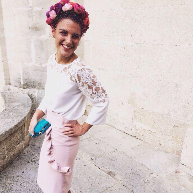 """invitada de boda de rosa cuarzo de lamasmona.com """"x"""""""