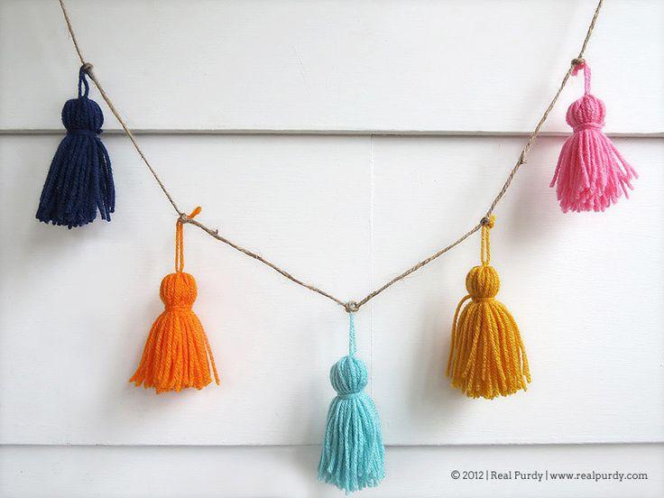 yarn tassel garland - Google Search