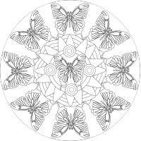 Pillangó felnőtt színező falmatrica