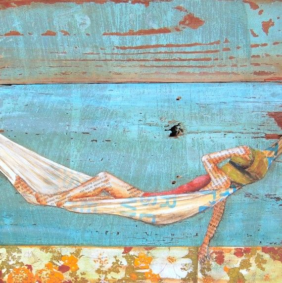 Woman Resting in Hammock at Beach The Activity by dannyphillipsart, $20.00