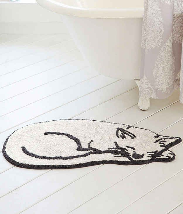 Aw, It's a Pawsitively Adorable Bath Mat
