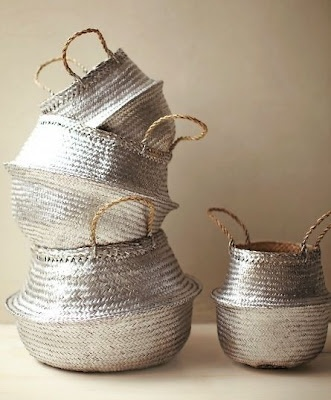 DIY Painted baskets