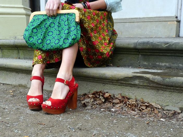 Bold Patterns Mixed with Bright Clogs