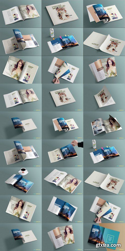 CM - Square Layout Magazine Mockups Vol.8 561309