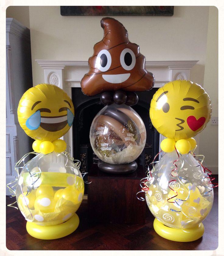 Emoji balloons  made by balloonblooms.co.uk