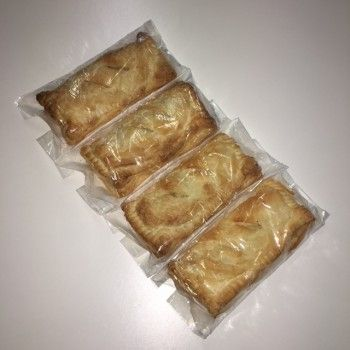 Frozen Puff Pastry Vegan Cheese and Onion Pasties - 4 Pack