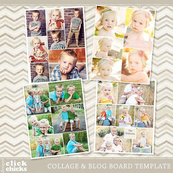 Kopen bundel en bespaar!  Deze prachtige blog boards en collage-sjablonen zijn perfect om te posten in uw blog, nieuwsbrief, web/sociale media of afdrukken van een collage van uw mooiste fotos!  SJABLOON DETAILS: -4 sjablonen (8 gelaagde PSD-bestanden, elk ontwerp is 16 x 20 inch - 250dpi en 900 x 1125 pixels) -U kunt gemakkelijk de kleuren aanpassen aan uw behoeften wijzigen. -Knipmaskers (instructie opgenomen) -Compatibel met de CS + en Photoshop Elements 6 + -Tekst kan worden bewerkt…