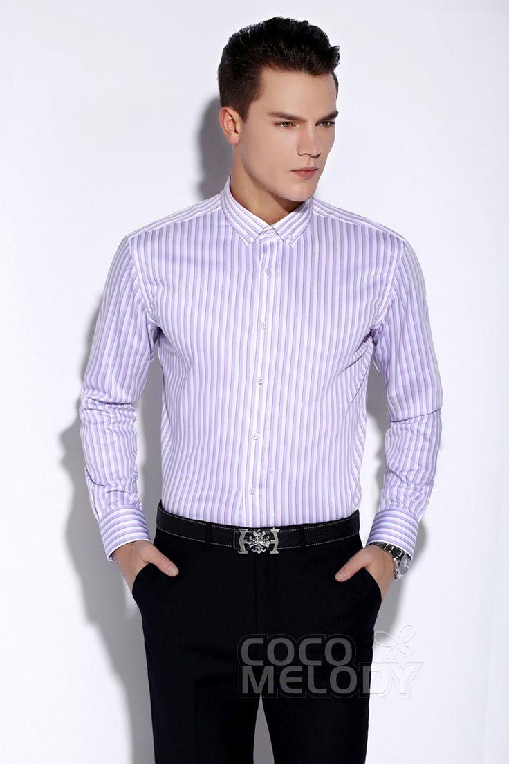 Unique Dress Shirts Mens Formalwear Button Down Collar LT0015009 #cocomelody
