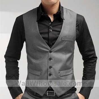 The High-grade Gray Men's Vest // I think I'd rather have the Best Men.. In something like this rather than a full blown tux.. Would add a stylish twist..