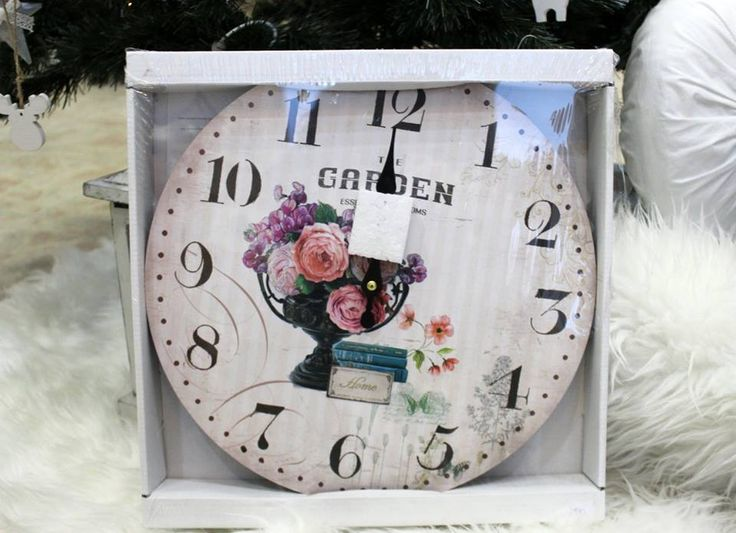 Rosy wall clock