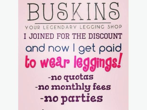Whaaaaaaaaaaat?! That's right!! I get PAID to wear LEGGINGS!!!  Join *NOW* and you can do the same!  No monthly quotas to reach! No monthly fees to pay! No inventory or stock that you have to carry (Unless you want to)!  https://lovelyladyleggings.mybuskins.com/join/  30% discount on personal purchases 25% commission on orders placed through your website 5% commission on your downlines sales