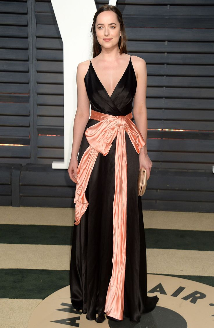 Dakota Johnson in Gucci at 2017 Vanity Fair Oscar Party in Los Angeles