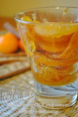 kandyzowane plasterki pomarańczy