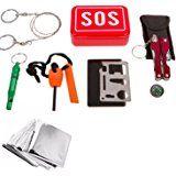 OUTERDO SOS Sopravvivenza di Attrezzature di Emergenza Kit di Sopravvivenza Kit di Attrezzatura da Pesca per il Campeggio Esterno di Pesca