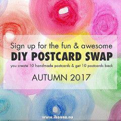 iHanna's DIY Postcard Swap Autumn 2017 - sign up now!